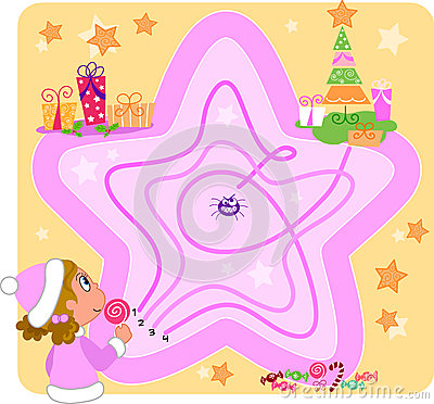 Kids game: Christmas maze
