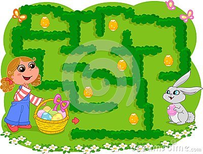 Kids game: Easter maze
