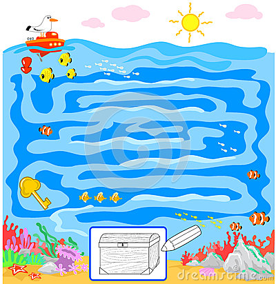Kids game: sea maze