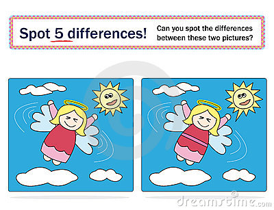 Kids game: spot 5 differences!