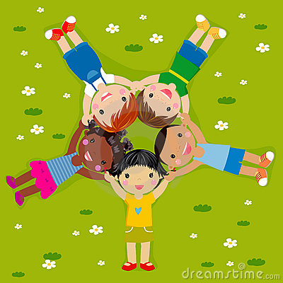 Kids on Grass