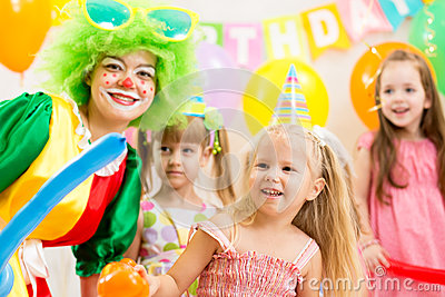 Kids group on birthday party