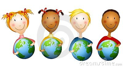 Kids Holding Earth Globes
