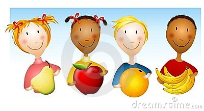 Kids Holding Healthy Foods