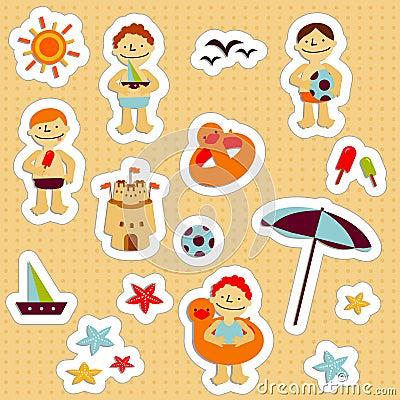 Free Kids Holidays Stickers 2 Stock Photo - 8319860