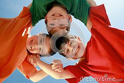 Kids Huddling