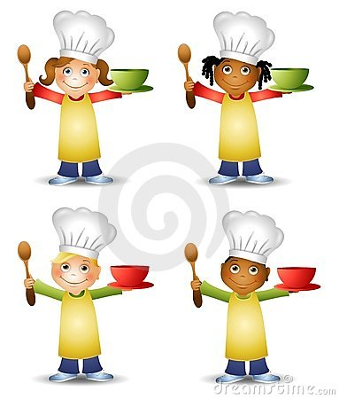 Free Kids In Chef S Hats Stock Images - 7248164