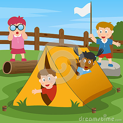 Free Kids In Summer Camp Royalty Free Stock Photos - 25315318