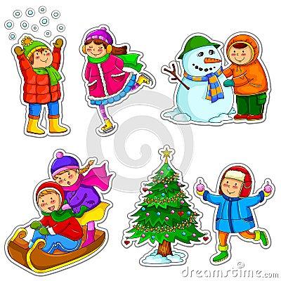 Free Kids In Winter Stock Photos - 27884793