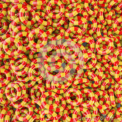 Kids inflatable rings background