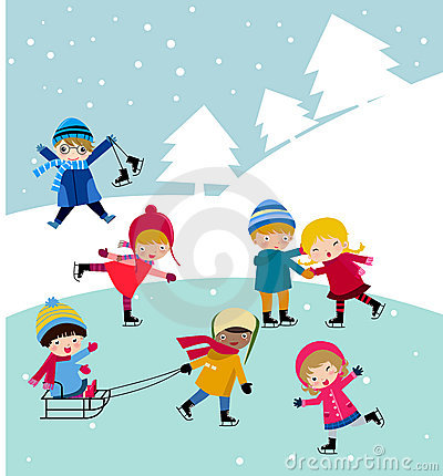 Free Kids Join Snow Royalty Free Stock Images - 11859659