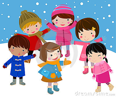 Kids join snow