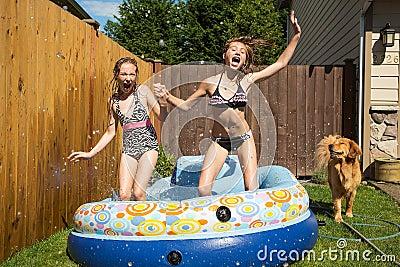 Inflatable Pool Backyard
