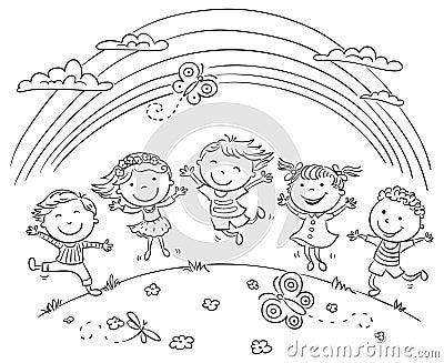 Arcobaleno Da Colorare Con Bambini