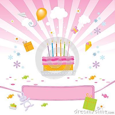 Free Kids Love It- Birthday Cake Royalty Free Stock Photos - 4841018