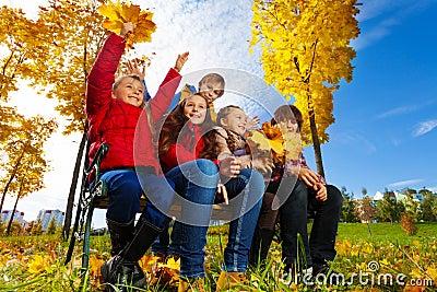 Kids in maple park