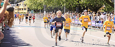 Kids Marathon Run Race Editorial Stock Image