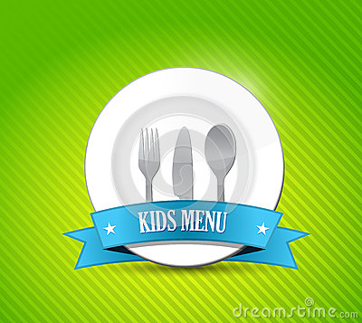 Kids menu illustration design
