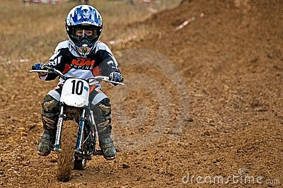 Kids Motocross Editorial Stock Photo