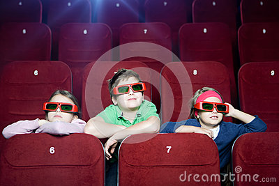 Kids in the movie theater