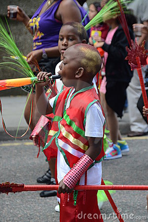 Kids at Notting Hill Carnival Editorial Photo