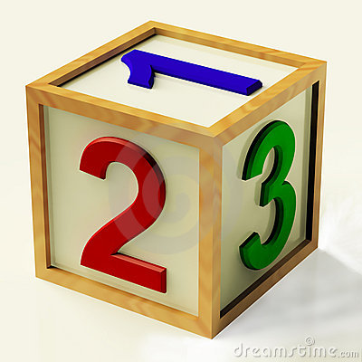 Kids Number Block As Symbol For Numeracy