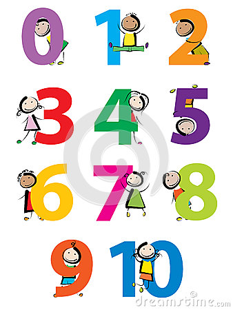 Kids with numbers