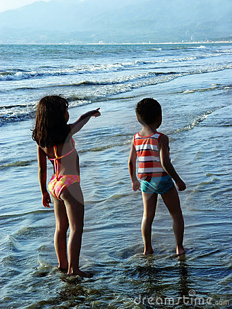 Free Kids On The Beach Stock Image - 88371