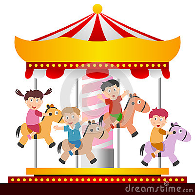 Free Kids On The Carousel Stock Images - 25515224