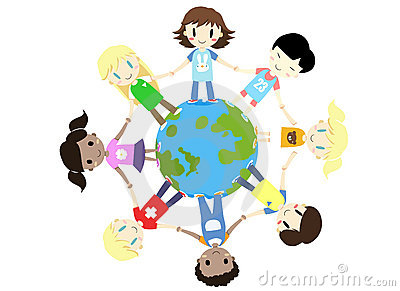 kids one world one family - vector