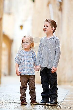 Kids outdoors portrait