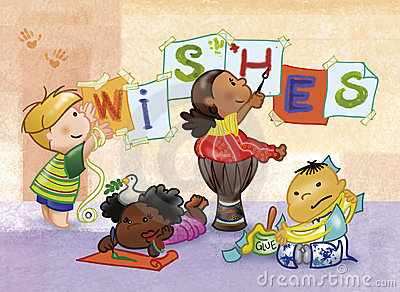 Kids painting: WISHES!