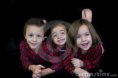 Kids in Pajamas (ready for bed)