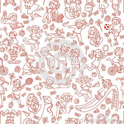 Free Kids Pattern Royalty Free Stock Images - 25561179