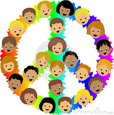 Free Kids Peace Sign/eps Stock Images - 10248114