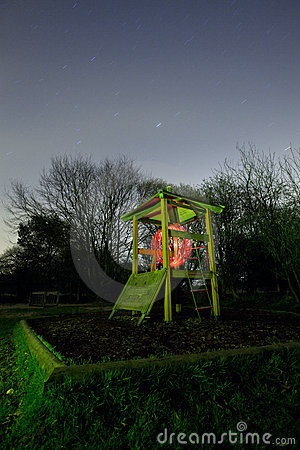 Kids play area at night