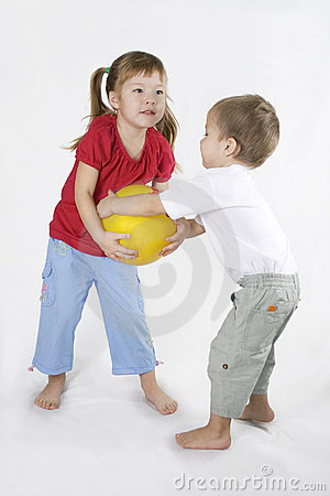 Kids Play Ball. Conflict situation.