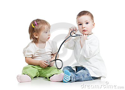 Kids play doctor