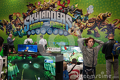 Kids play at Games Week 2013 in Milan, Italy Editorial Image