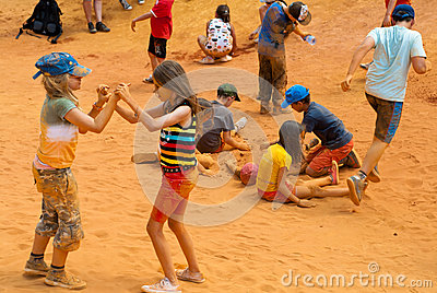 Kids play Editorial Photo