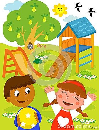 Kids at the playground.