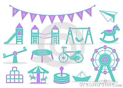 Kids Playground icons