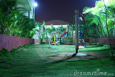 Kids Playground at Night