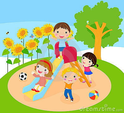 Kids Playing Royalty Free Stock Images - Image: 22032729