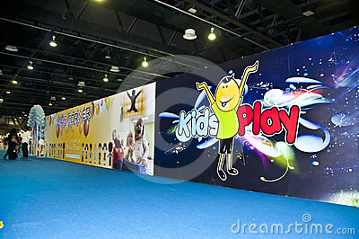 Kids playing area in DIPC 2012 Editorial Photo