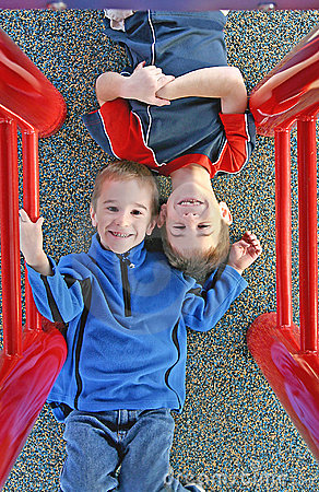 Free Kids Playing At The Playground Stock Image - 4168221
