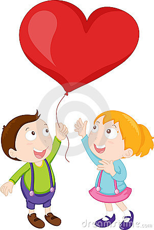 Kids playing with balloon