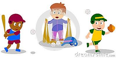 Kids Playing - Baseball