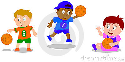 Kids Playing - Basketball