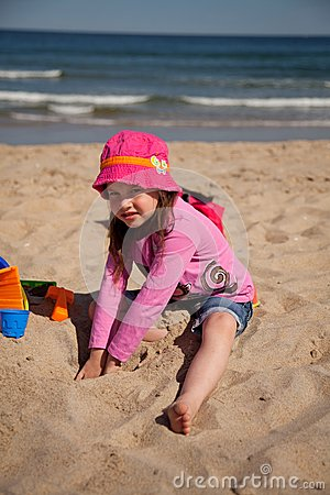 Kids playing at the beach